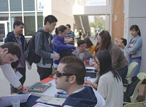 Cal State Fullerton Accounting Society recruitment drive: school one of few with separate accounting accreditation