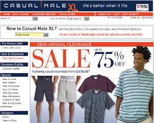 Casual Male, a client of Acquity Group, website: management consultants seeing online retailers spend money to revamp sites