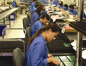 Express Manufacturing in Santa Ana: electronics maker hired locally, in Asia