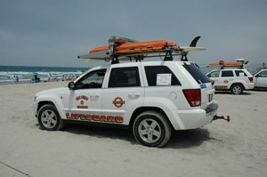 San Diego officials this fall will discuss allowing sponsorships on beach fixtures such as signs, benches and lifeguard towers. Past marketing arrangements permit sponsor names on lifeguard and other city vehicles.