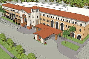 Rendering: This artist's illustration shows the larger facility, which will be ready in 2012.