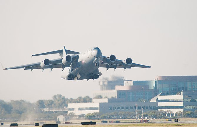 Boeing C-17 aircraft.