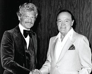 With Bob Hope: first met at Disney World opening in 1971