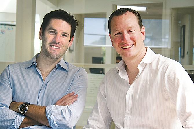 From left, CheckPoints co-founders Mark and Todd DiPaola.