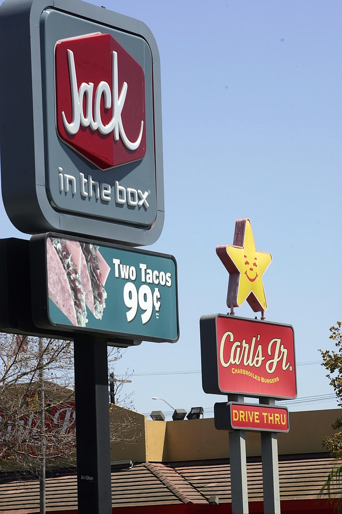 Fast food restaurants in South Los Angeles.