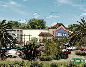 Lowe's is a proposed anchor at Palomar Commons, a new shopping center being developed on a former hotel site in Carlsbad.