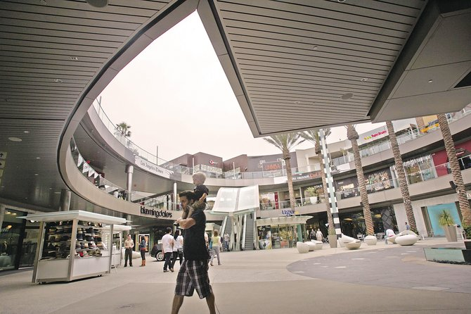 Santa Monica Place recently reopened with an open-roof design.