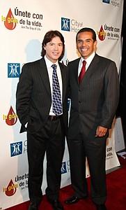 Director Simon Brand and L.A. Mayor Antonio Villaraigosa.