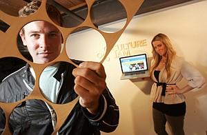 Culture Jam's MacNaughton siblings at startup's Culver City office.