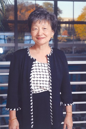 Connie Matsui received the Rell Sunn 'Queen of Makaha' Award at a recent fundraiser benefiting UCSD Moores Cancer Center.