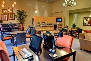 Internet café in the Village at Northridge retirement community campus.