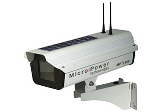 Solar cells power the Rugged-i wireless video camera from Micropower Technologies.