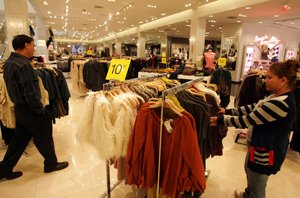 Shoppers at Forever 21 in Cerritos, where the chain moved into a vacant Mervyn's.