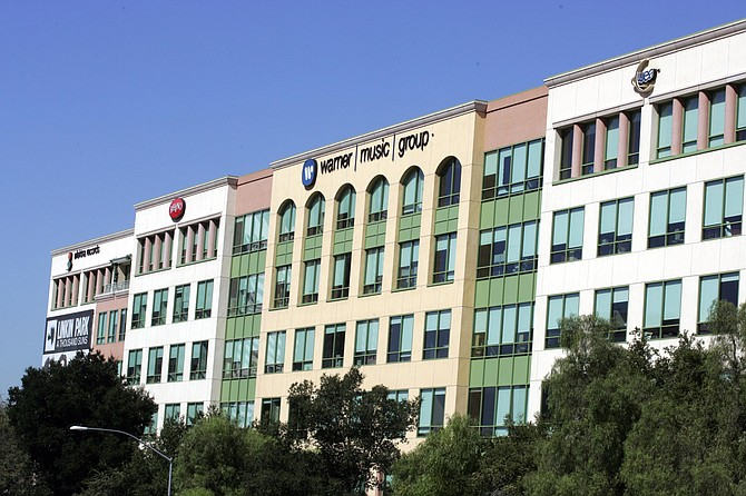 Most of Warner Music Group's operations stayed in Burbank, above, after headquarters moved to New York.