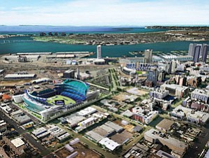 The state's move to remove a spending cap could clear the way for San Diego's downtown redevelopment agency to invest money toward a proposed new San Diego Chargers stadium.