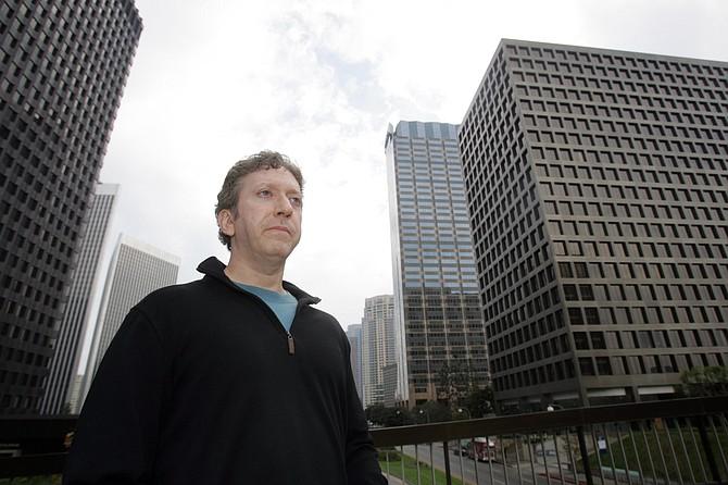 Activist Cary Brazeman in Century City.
