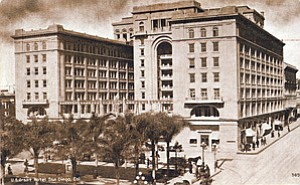 The US Grant hotel in San Diego, seen here in a vintage photo, recently celebrated its 100th anniversary.