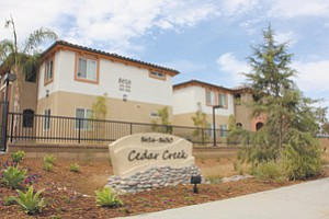 The 48-unit affordable rental community Cedar Creek Apartments is newly built on Fanita Drive in Santee.