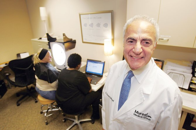 Dr. Howard Murad at his skin care company in El Segundo.