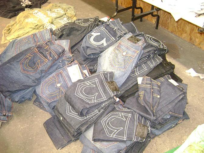 Seized True Religion jeans.