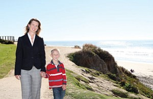 Beth Anne Baber, shown with her son Conor, is CEO of The Nicholas Conor Institute. The nonprofit focuses on pediatric cancer research, diagnosis and treatment.