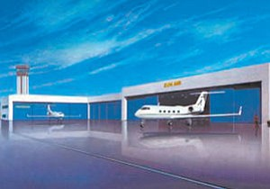 Artist Rendering: Sun Air Jets, one of the largest companies at the airport, is making an investment of $28 million.
