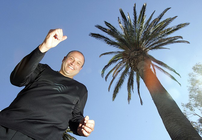 Russ Pillar, president of the Los Angeles Marathon, at one of his favorite running trails along Ocean Avenue in Santa Monica.