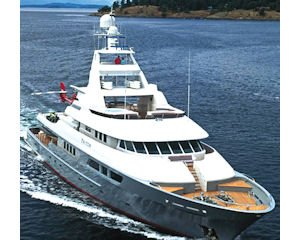 Triton: 163-foot yacht  put up as collateral in  loan from Nicholas
