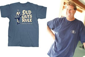 """Golf-inspired shirt: brand has more than 700 designs.  Craig:""""Baby boomers are a growing niche in the apparel market"""""""