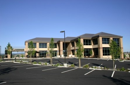 Headquarters of Cascade Bancorp in Bend, Ore.