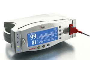 Masimo device: measures patient oxygen in operating, emergency rooms, intensive care units, other healthcare facilities