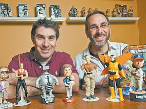 Fun-Seekers: Jason, left, and Aaron Labowitz of Entertainment Earth specialize in collectibles.