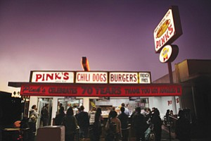 L.A. culinary icon Pink's Hot Dogs has opened its first San Diego County restaurant at Harrah's Rincon Casino & Resort.