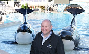 John Reilly took the president's job at SeaWorld San Diego earlier this month. The park has nearly 10,000 animals; its biggest denizens include orcas Kasatka and Orkid.
