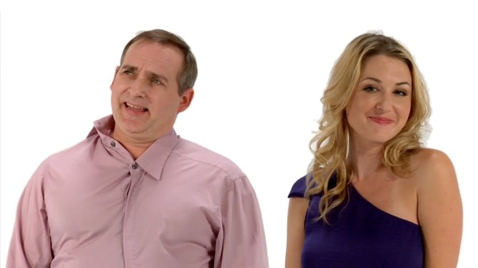 Shon Little and Andrea Lowell in commercial for Staar's Visian ICL.