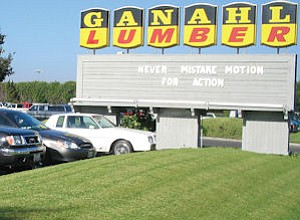 Ganahl Lumber's Anaheim store, HQ: company has eight stores, ninth in works