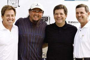 Bob Allison, Wing Lam, Tom McCall, Ken McCall: golf tournament raised $300,000