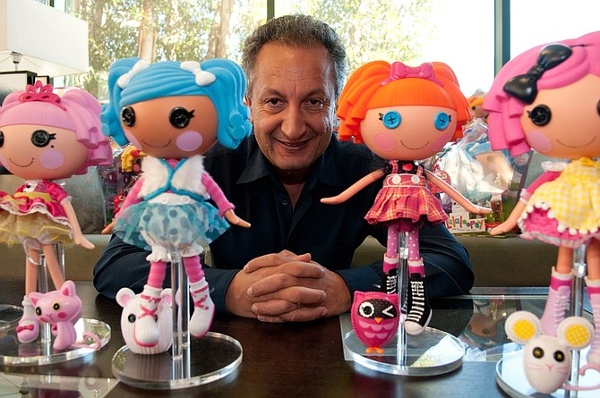 MGA CEO Isaac Larian with Lalaloopsy dolls at the company's Van Nuys office.