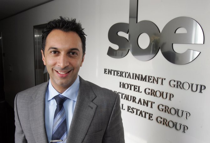 SBE's Behzad Souferian at the firm's office near the Fairfax District.
