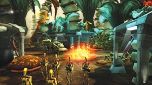 Sony Online Entertainment produces a variety of video games for gaming consoles, hand-held devices and computers, such as 'The Clone Wars' series depicted above.