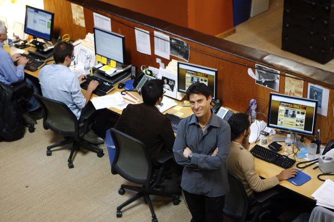 Richard Rosenblatt, chief executive of Demand Media, at the company's Santa Monica office in 2007.