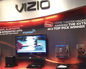 Vizio: showed flat TVs, debuted tablet