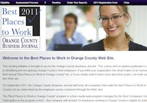 2011 Best Places to Work: find link at ocbj.com