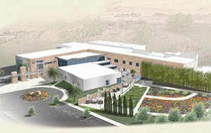 Construction is under way on the Scripps Proton Therapy Center in Mira Mesa.