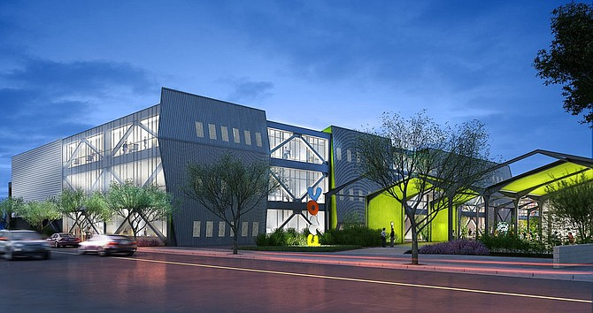 Rendering of Agensys Pharma's new facility planned for Santa Monica.