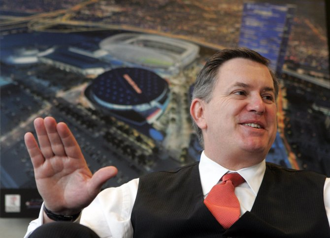 Tim Leiweke, chief executive of AEG, at the sports and entertainment company's office in downtown Los Angeles.