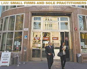 Most of the attorneys in the greater Valley area work for small firms or practice law by themselves.
