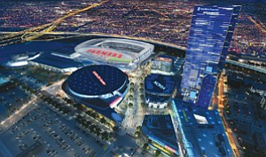 Developer AEG is proposing a $1 billion football stadium and events center, to be called Farmers Field, adjacent to the Los Angeles Convention Center, in that city's downtown area.