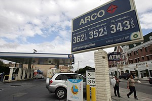 An L.A.-area independently owned Arco gas station.