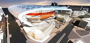 Rendering for 40,000-seat stadium at University of Nevada, Las Vegas.